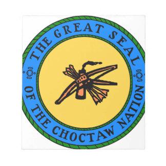 Choctaw-Siegel Notizblock