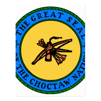 Choctaw-Siegel Postkarte