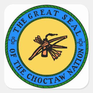 Choctaw-Siegel Quadratischer Aufkleber