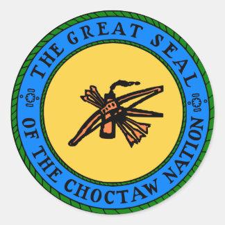 Choctaw-Siegel Runder Aufkleber