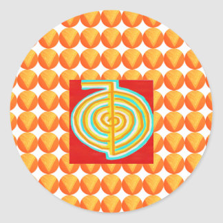CHOKURAY: CHO KU STRAHL Reiki heilendes Symbol Runder Aufkleber