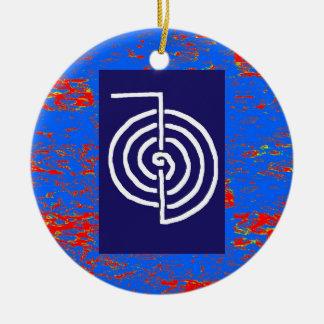 CHOKUREI Reiki grundlegendes heilendes Symbol Rundes Keramik Ornament