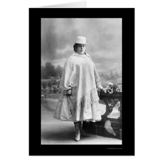 Chola Frau in La Paz, Bolivien 1902 Karte