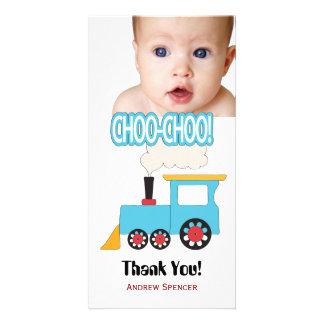 Choo Choo Zug danken Ihnen Foto-Karten Bildkarten