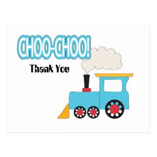 Choo Choo Zug danken Ihnen Postkarte