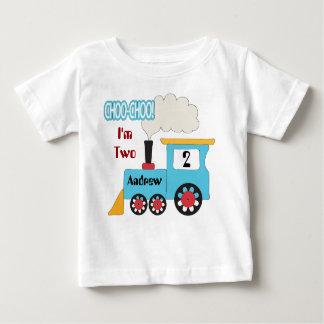Choo Choo Zug-Geburtstags-Shirt Baby T-shirt