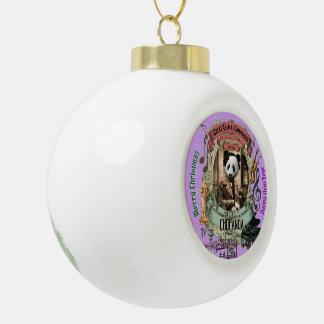 Chopanda Chopin Panda Keramik Kugel-Ornament