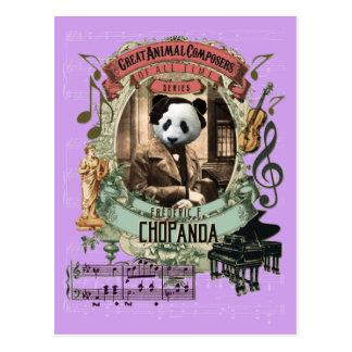 Chopanda lustiger Panda-großer Tierkomponist Postkarte