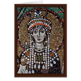 Chor Mosaiken bei San Vitale in Ravenna, Szene: Karte