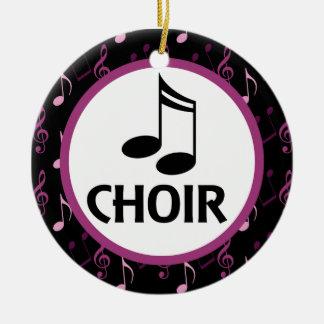 Chor-Musiknoten-Verzierungs-Geschenk Rundes Keramik Ornament