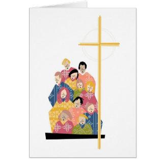Chor üben in den bunten Roben Grußkarte