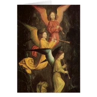Chor von Engeln durch Simon Marmion, Karte