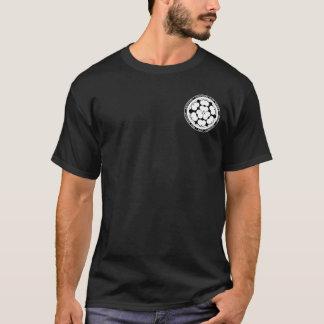 Chosokabe Samurai-Clan-schwarzes u. weißes T-Shirt