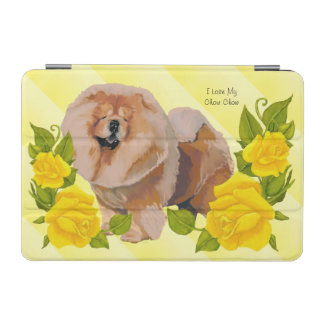 Chow-Chow Chow-Chow mit gelber Rose iPad Mini Hülle