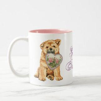 Chow-Chow Herz-Mamma Zweifarbige Tasse
