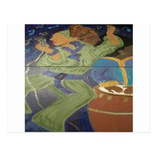 Chrichelle Sassaphrass Blues Postkarte