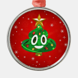 Chris emoji kacken silbernes ornament