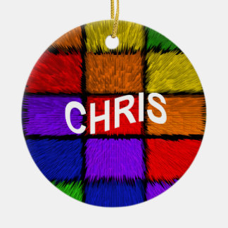 CHRIS RUNDES KERAMIK ORNAMENT