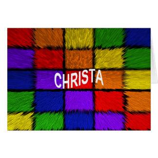 CHRISTA KARTE
