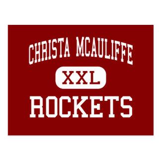 Christa McAuliffe - Rockets - Mitte - San Antonio Postkarte