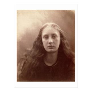 Christabel, Porträt von Mai Prinsep, c.1867 (Sepia Postkarte