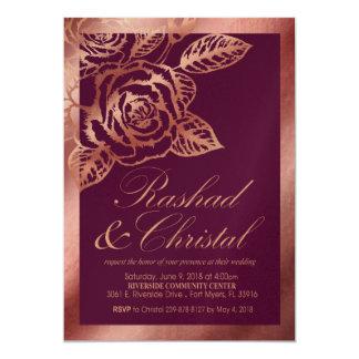 Christal  Foil Roses Wedding Champ Shim Karte