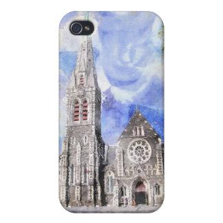 Christchurch-Kathedrale (vor Beben) iPhone 4 Fall iPhone 4 Schutzhüllen