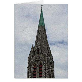 Christchurch-Kathedralen-Helm Posterized Blick Karte