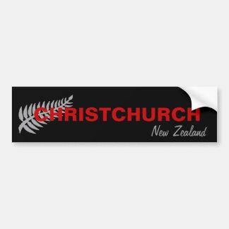 CHRISTCHURCH, NEUSEELAND AUTOAUFKLEBER