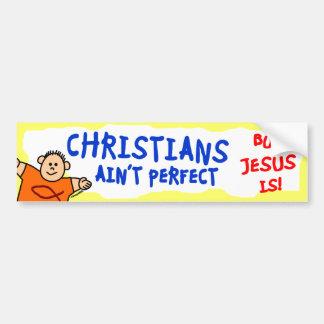 Christen ist nicht perfekt autoaufkleber