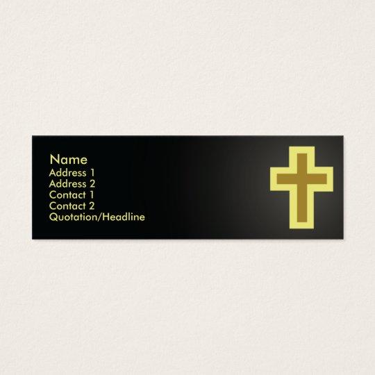 Christentum - dünn mini visitenkarte
