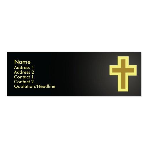 Christentum - dünn Mini-Visitenkarten