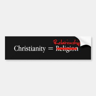 Christentum ist nicht eine Religion Autoaufkleber