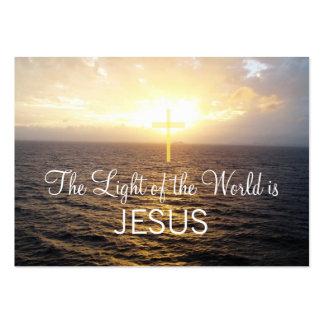 Christentums-Jesus Christus verbreitete das Wort Jumbo-Visitenkarten