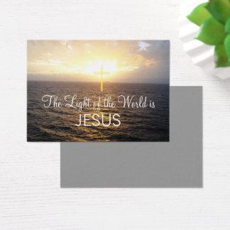Christentums-Jesus Christus verbreitete das Wort Visitenkarte