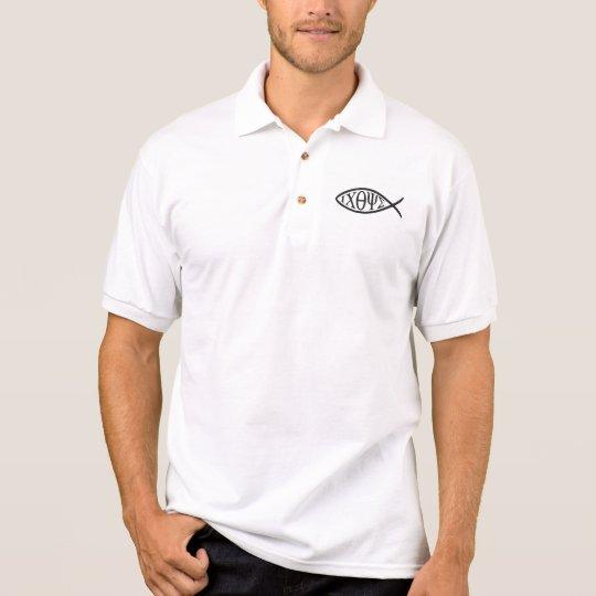 """Christian Polo-Shirt  """" Fish"""" Polo Shirt"""