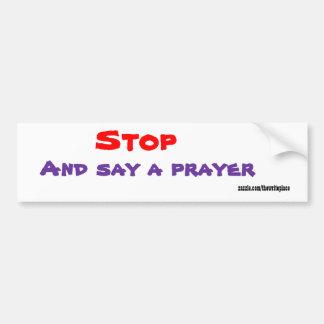 Christianbumper Aufklebersagen ein Gebet Autoaufkleber