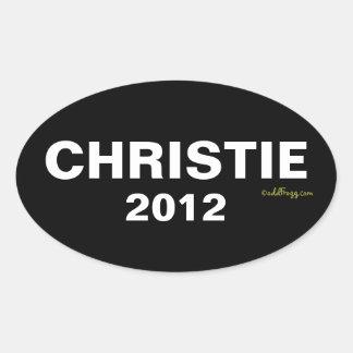 CHRISTIE Autoaufkleber 2012 Ovaler Aufkleber