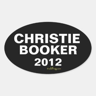 CHRISTIE BOOKER Autoaufkleber 2012 Ovaler Aufkleber