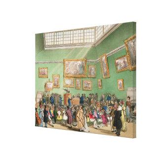 Christies Auktionssaal, aquatinted von J. Bluck Gespannte Galeriedrucke