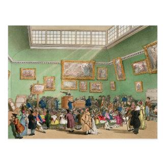 Christies Auktionssaal, aquatinted von J. Bluck Postkarte