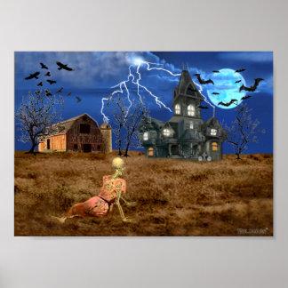 Christinas Halloween-Welt Poster