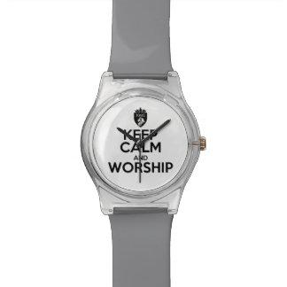 Christlich BEHALTEN Sie RUHE UND ANBETUNG Armbanduhr