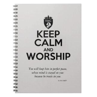 Christlich BEHALTEN Sie RUHE UND BETEN Sie Notizblock