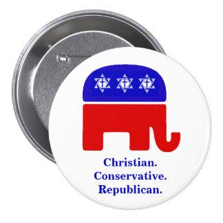 Christlich. Konservativ. Republikanisch Runder Button 7,6 Cm