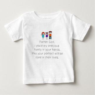 Christlich, legen Bibel-Zitat, meine Familie in Baby T-shirt