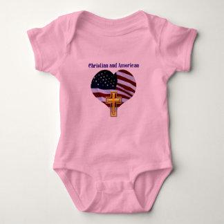 Christlich UND amerikanisch Baby Strampler