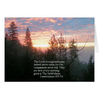 Christliche Bibel-Vers-Sonnenaufgang-Landschaft Karte