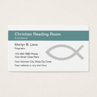 Christliche Buchhandlungs-Geschäfts-Karten Visitenkarte