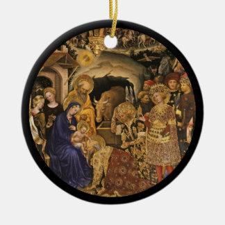 Christliche Dei Fabriano Verehrung der Weisen Keramik Ornament